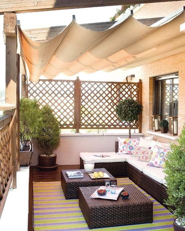 toldo y muebles jardín