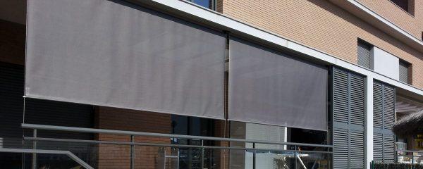 toldo vertical guiado