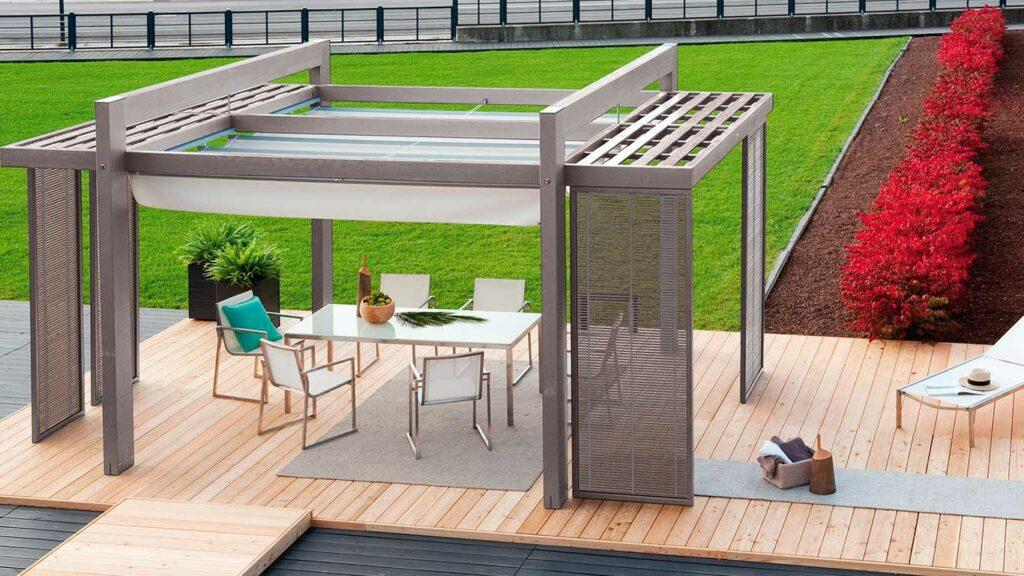 pérgola para mejorar tu terraza
